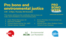 Pro bono and environmental justice