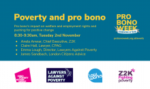 Pro bono and poverty - Pro Bono Week event
