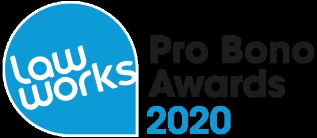 LawWorks Pro Bono Awards 2020 logo