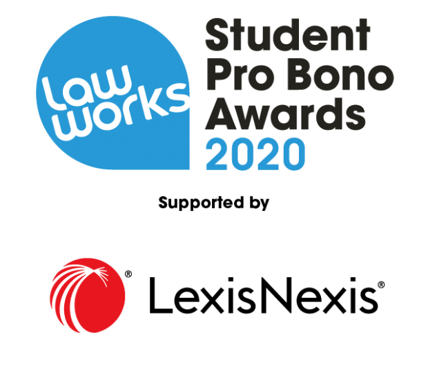 LawWorks and Attorney General Student Pro Bono Awards 2020, supported by Lexis Nexis