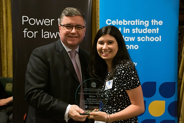 Best Contribution by an Individual Student:  Giulia Mazzu – Dickson Poon School of Law, King's College London