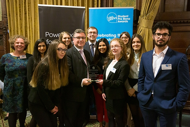 Best New Student Pro Bono Activity: Anti-Trafficking Legal Project, Liverpool Law Clinic, University of Liverpool